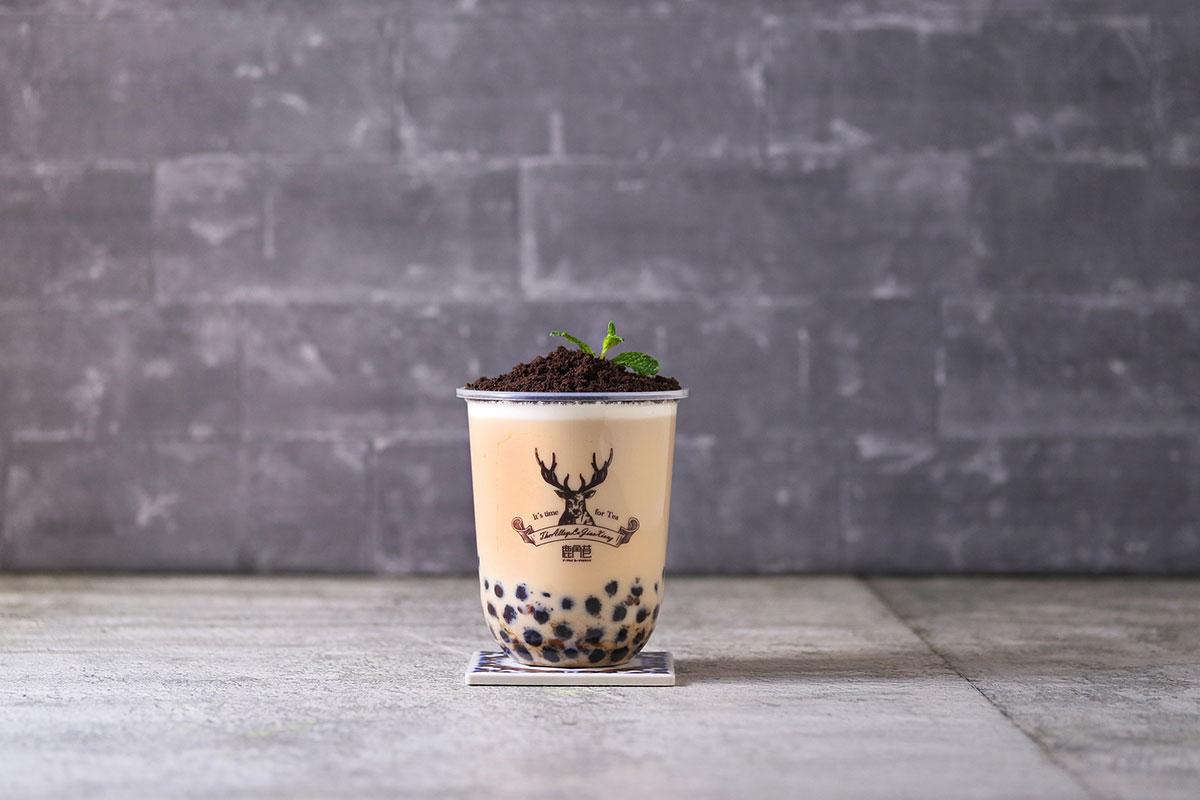 盆栽タピオカミルクティー
