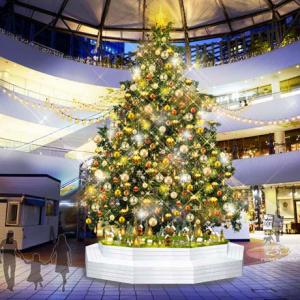 横浜ベイクォーター「クリスマスライトガーデン」開催!約8mのクリスマスツリー