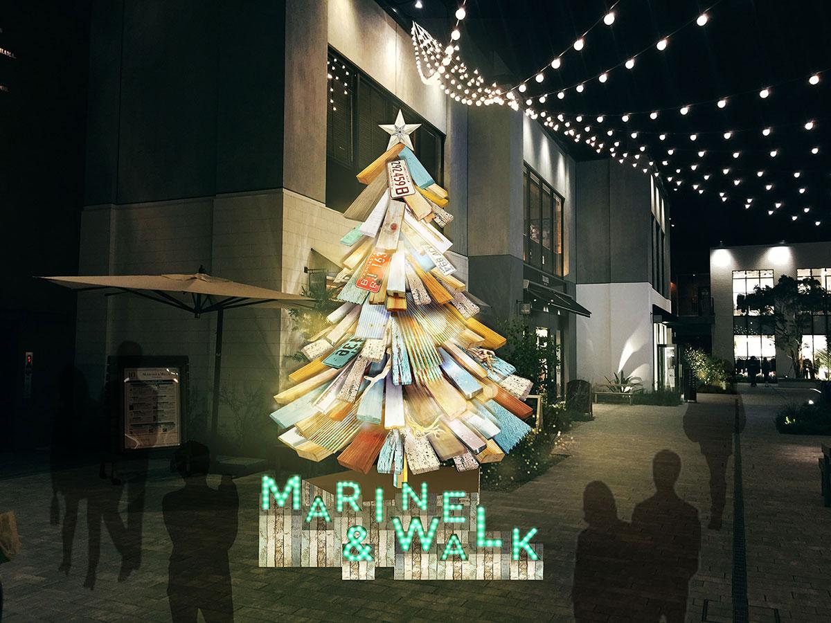 マリンアンドウォークヨコハマ クリスマスツリー