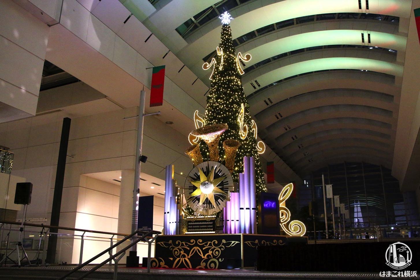 クイーンズスクエア横浜 クリスマスツリー ショータイム
