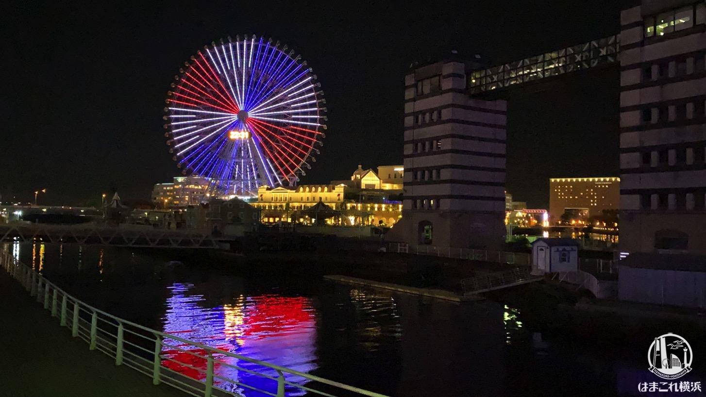 大観覧車「コスモクロック21」も横浜F・マリノス優勝祝う!トリコロールカラーに