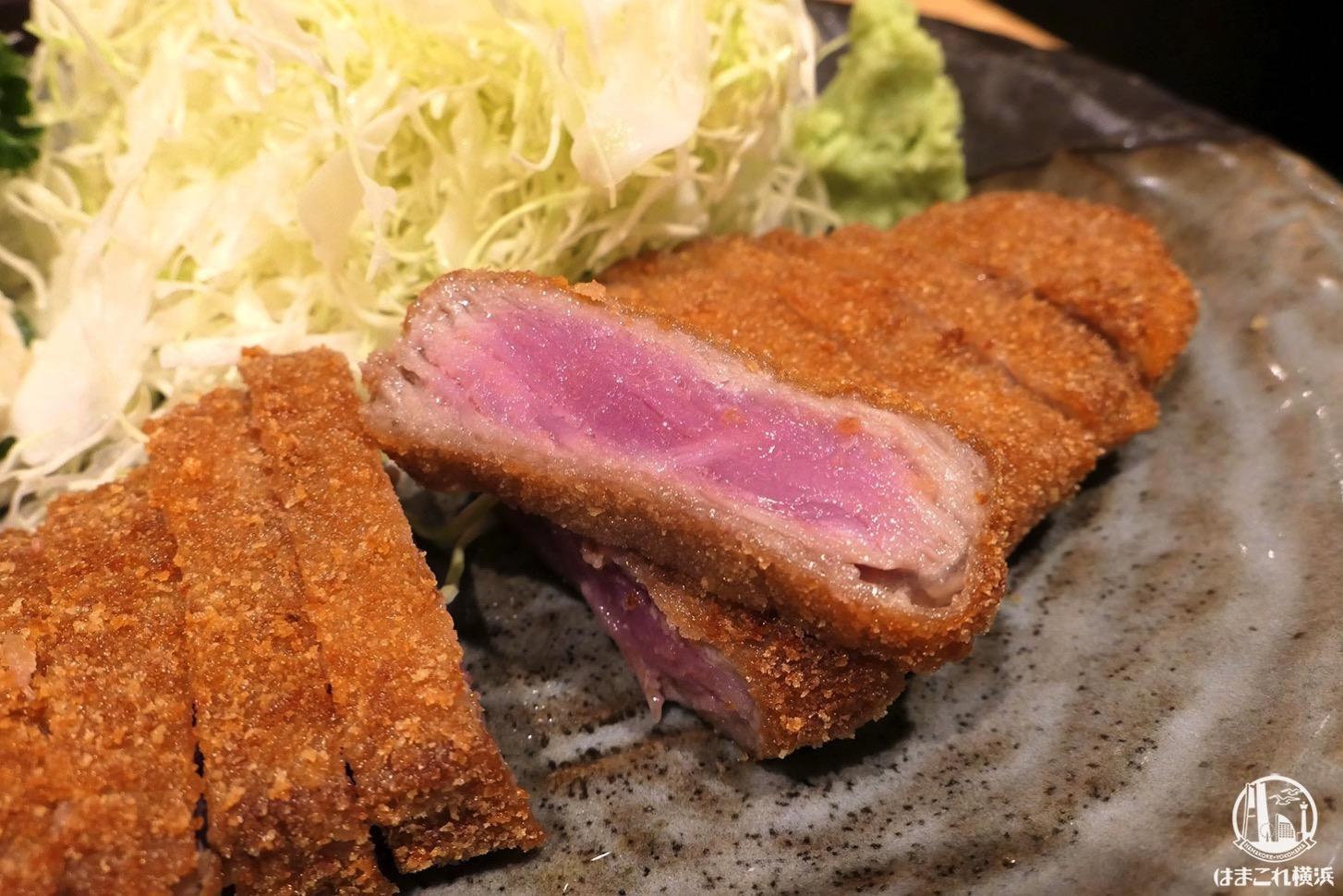 牛かつ もと村 横浜ジョイナスでランチ、石で炙って食べる牛かつ柔らかくて激うま!