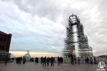 サスケ2019大晦日のファイナルステージのタワーが横浜赤レンガ倉庫に登場!