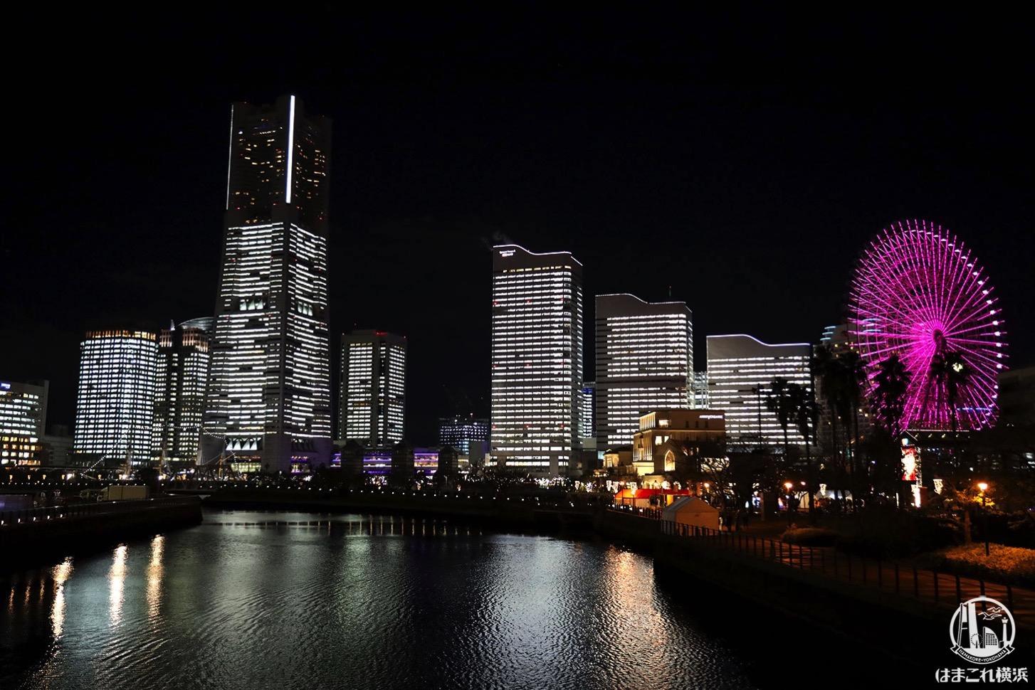 万国橋から見た夜景・タワーズミライト