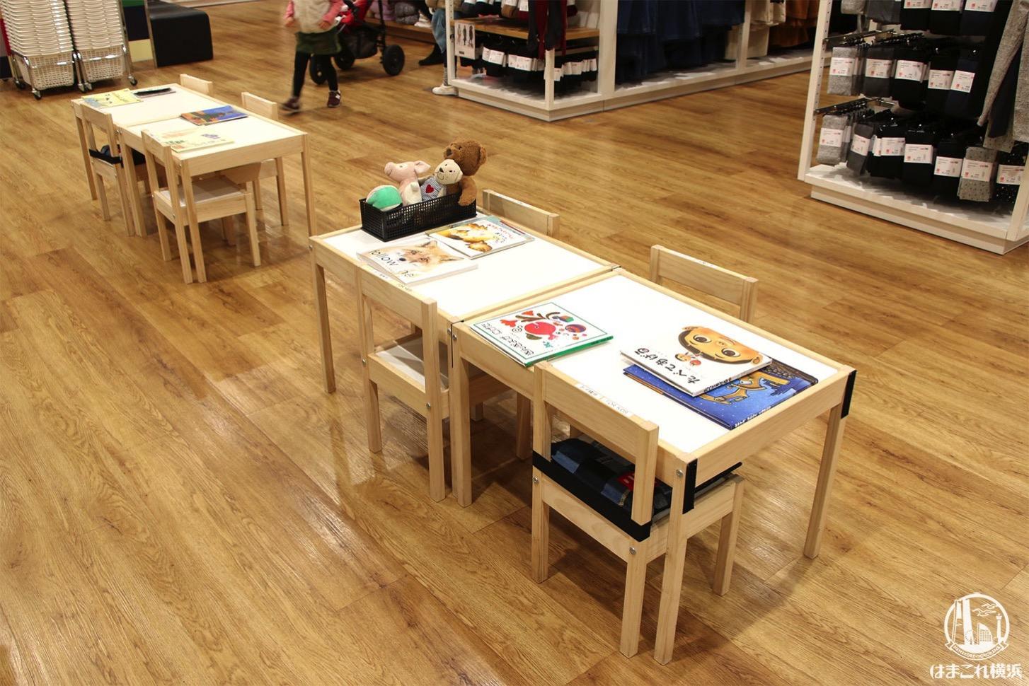 子ども用テーブル・イス・絵本