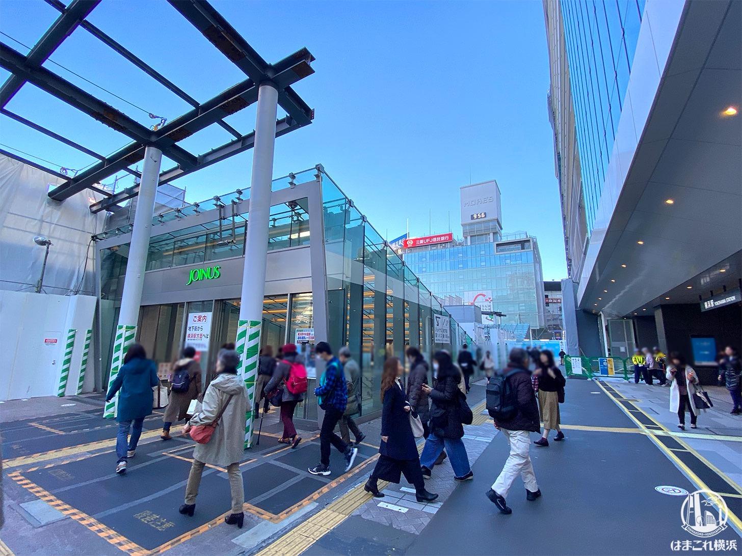 西口駅前の様子 2019年12月