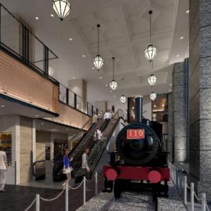JR桜木町駅、複合ビル「JR桜木町ビル」開業!110形蒸気機関車も設置