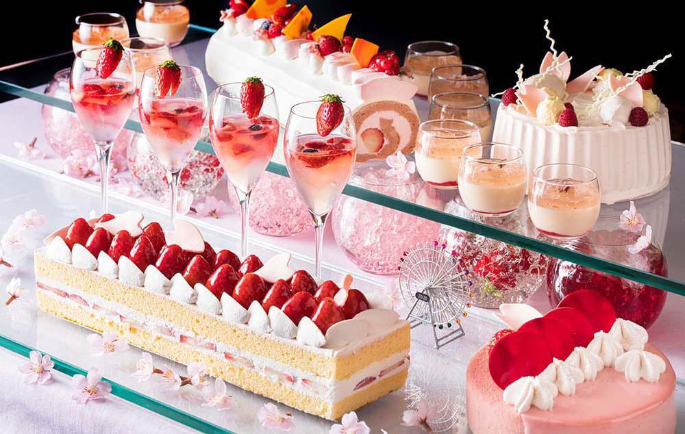 横浜ベイホテル東急でデザートブッフェ「桜ジャーニー」初開催!桜のショートケーキやカクテル