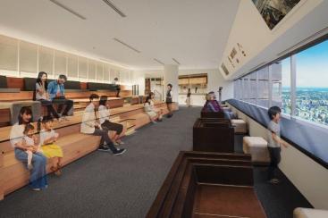 横浜ランドマークタワー 展望フロア「スカイガーデン」に空の図書室やカフェ、空中散歩マップ誕生!