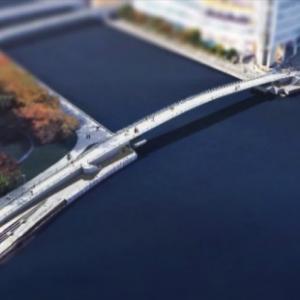 臨港パークと新港パーク繋ぐ歩行者デッキ名「女神橋」に決定