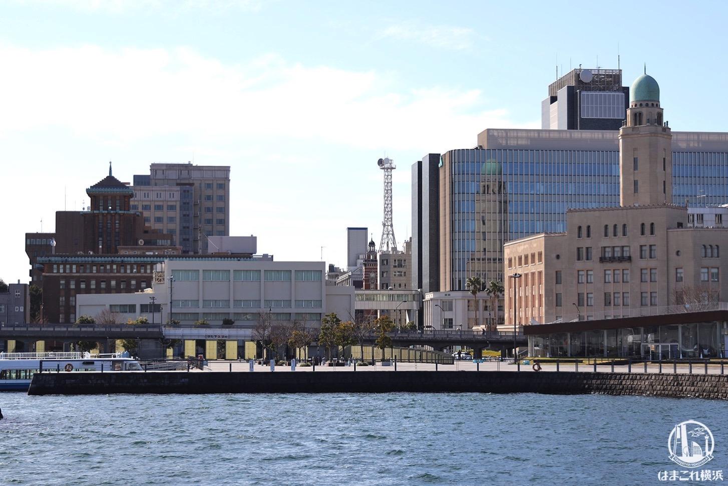 赤レンガパークから見た横浜三塔