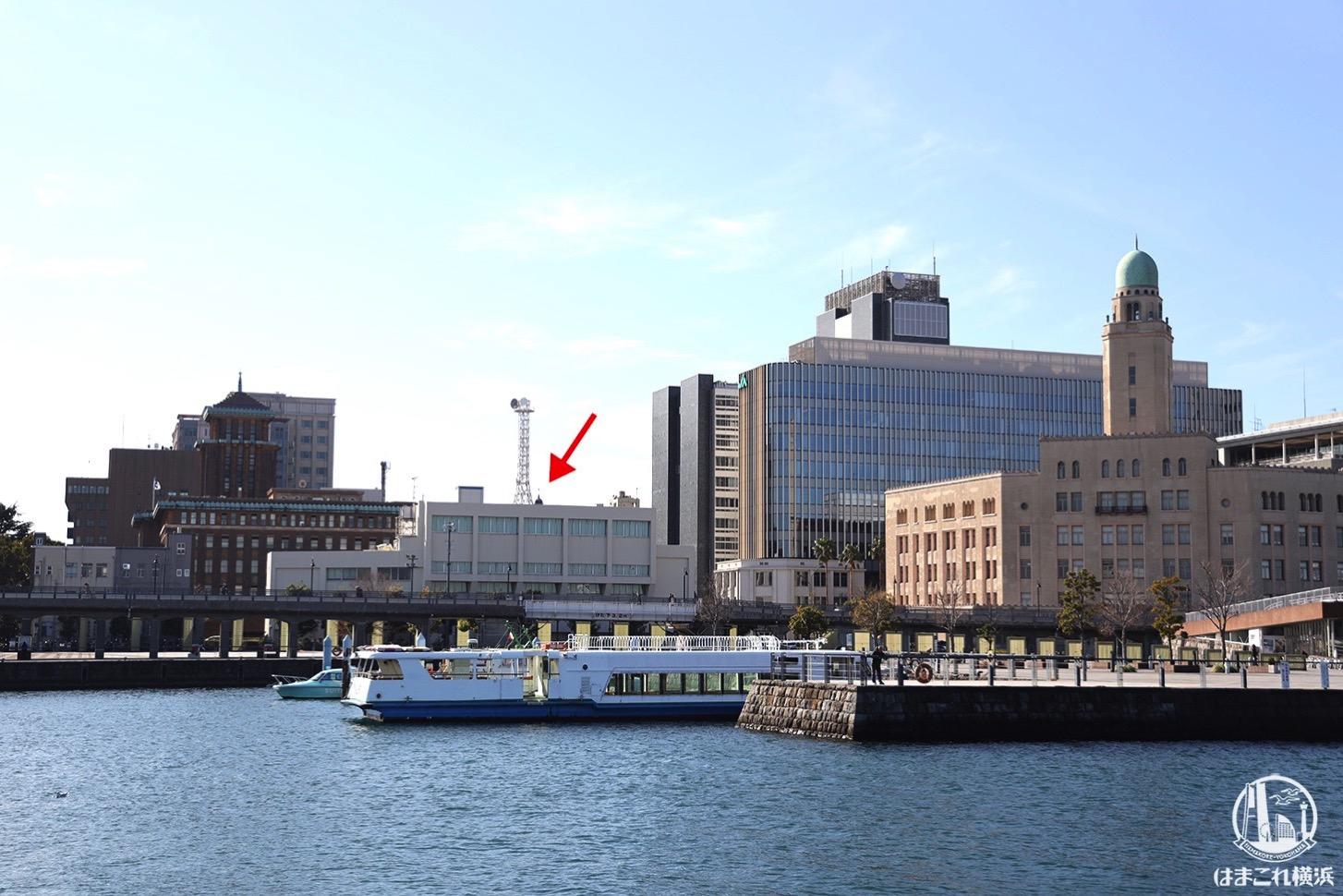 象の鼻パークから見た横浜三塔
