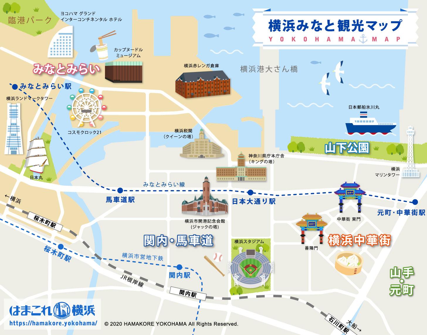 横浜みなとみらいの場所・地図