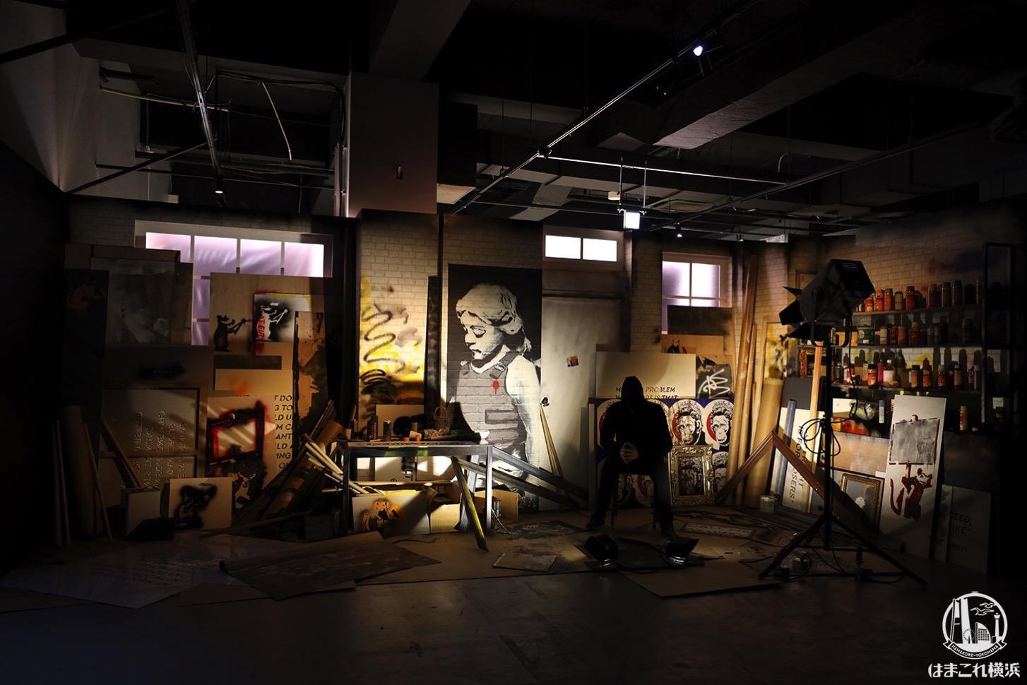 バンクシー展 天才か反逆者か、横浜で日本初開催!70点以上の作品集まる会場内公開