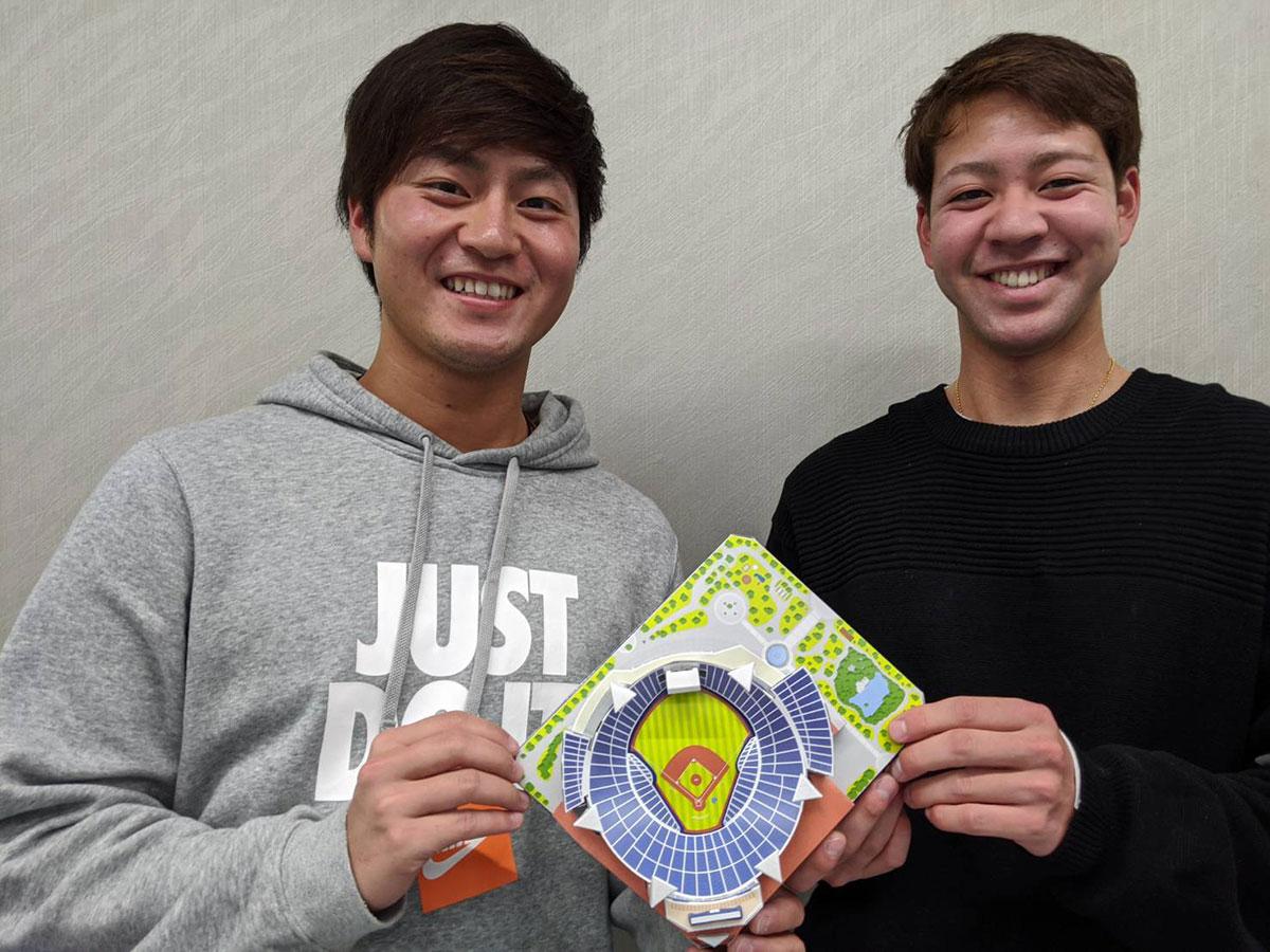 砂田毅樹選手と平良拳太郎選手