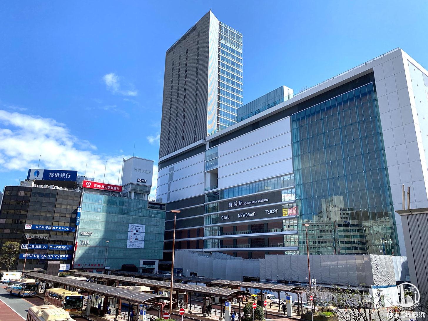 2020年3月 横浜駅西口 駅ビル完成までの様子