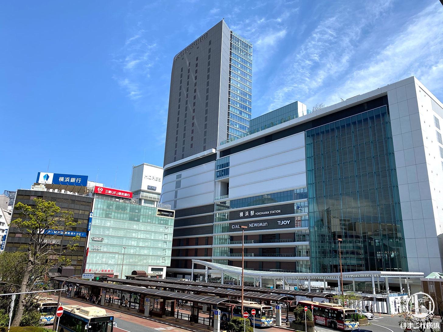 2020年4月 横浜駅西口の様子