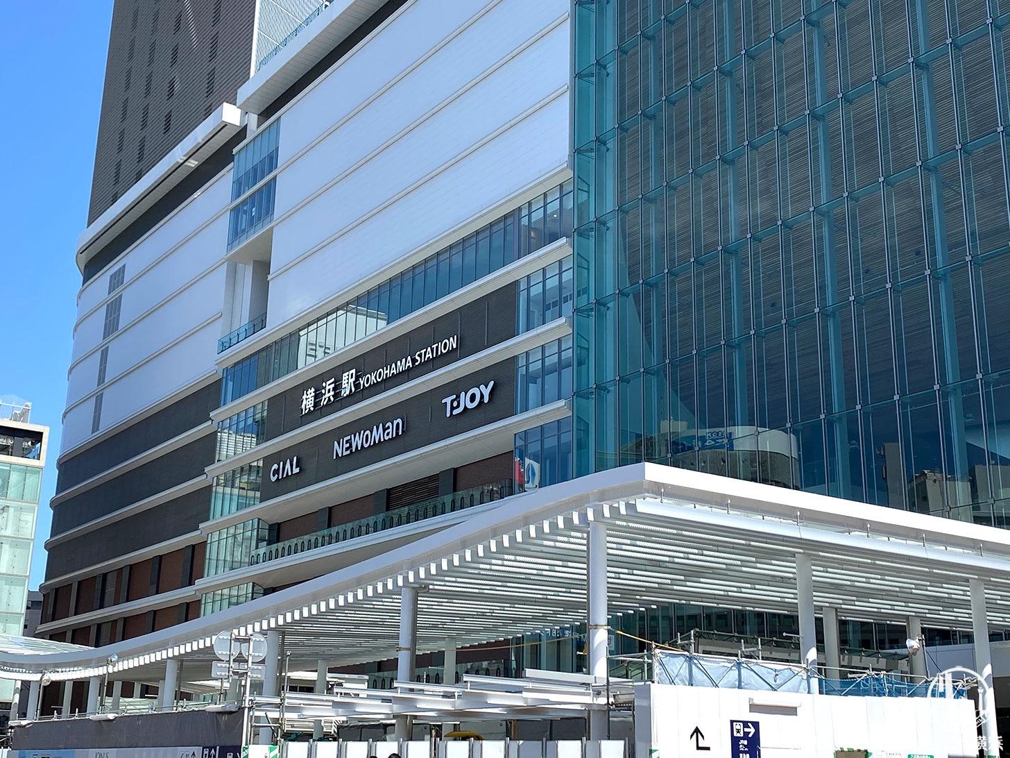 西口駅前広場 整備中の屋根