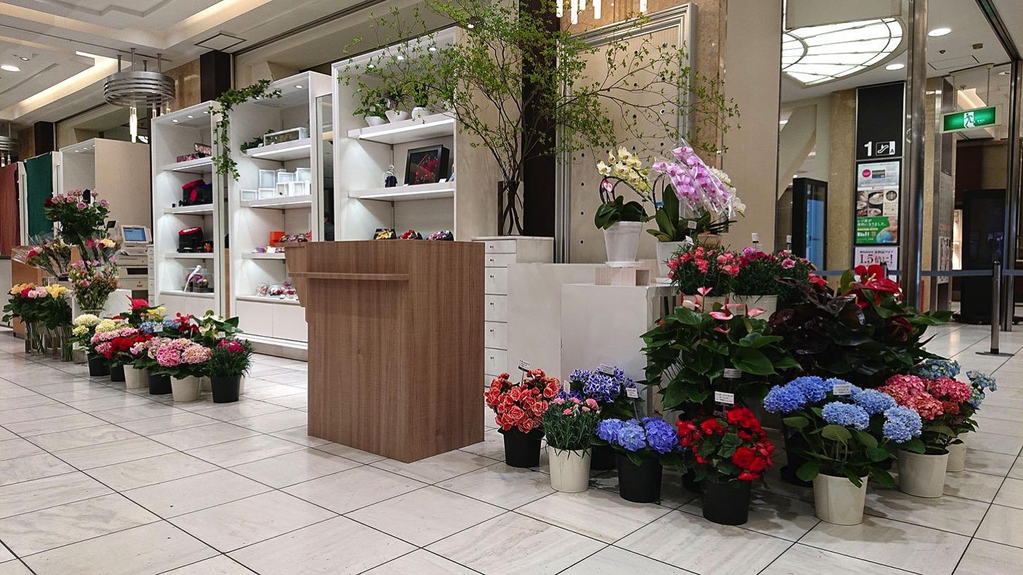 横浜高島屋に花販売の特設売り場