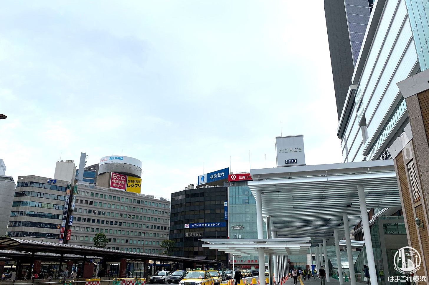 駅前広場の屋根