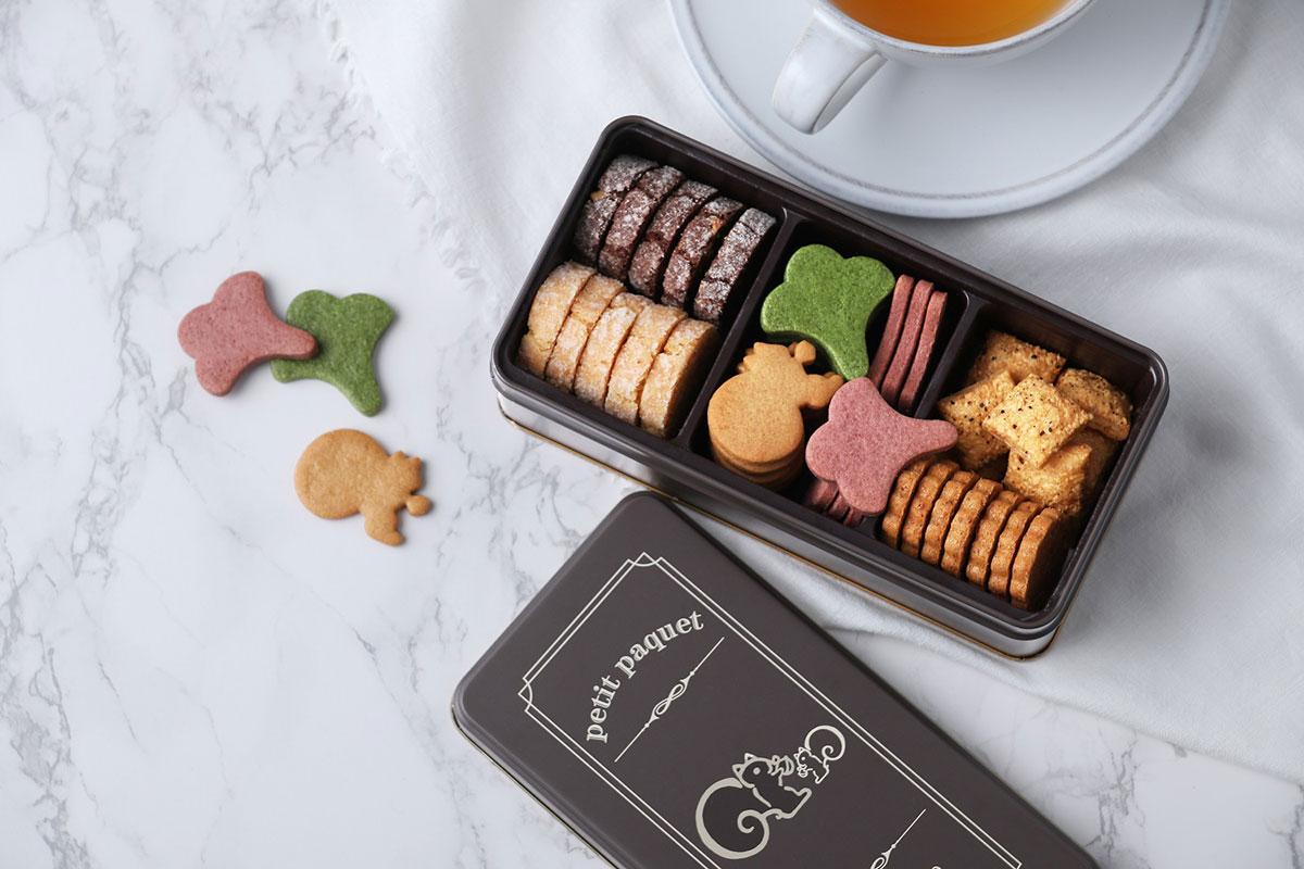鎌倉紅谷 クッキー缶「プティ・パケ」を販売!リスくんのクッキーなど7種類