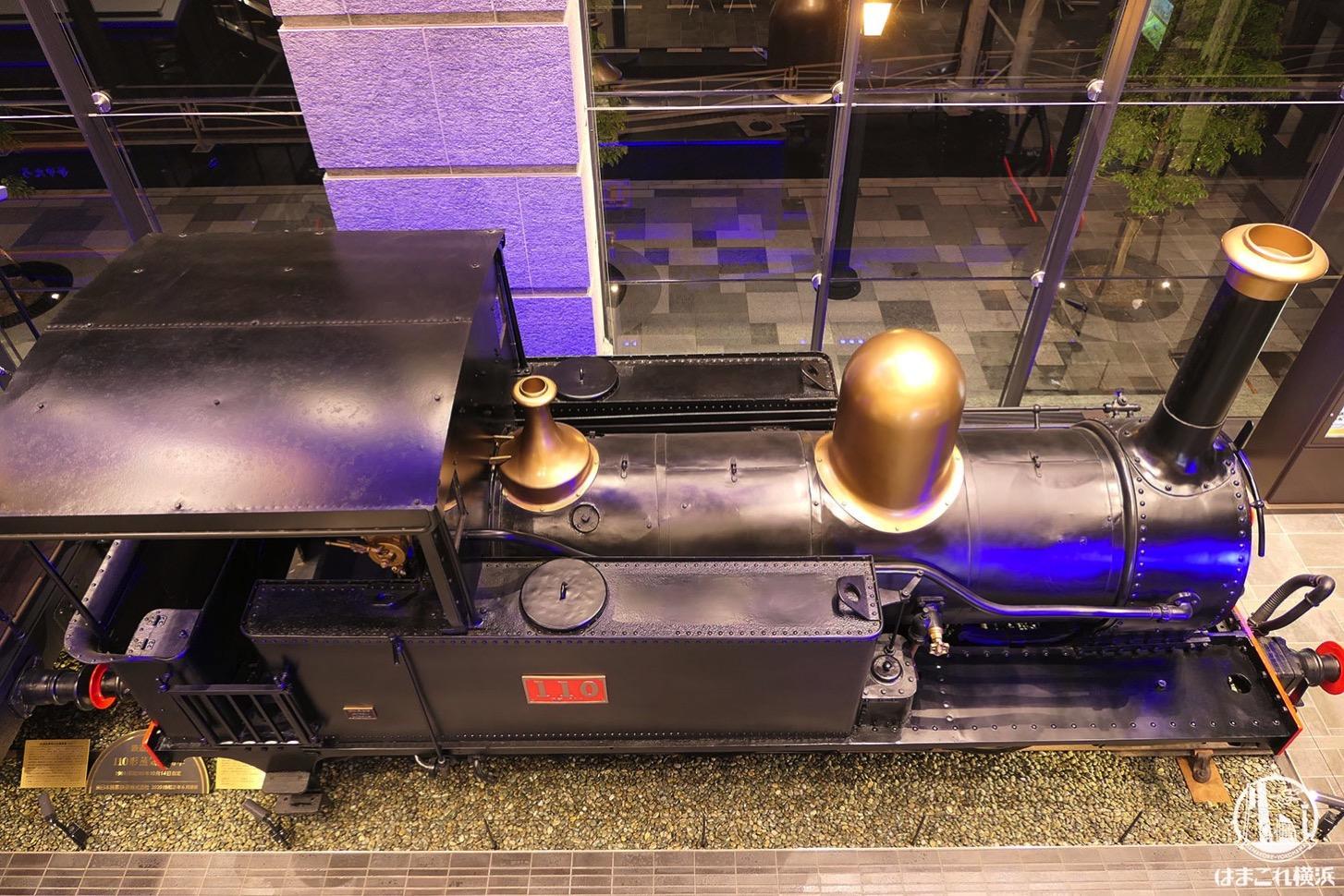 上から見た110形蒸気機関車