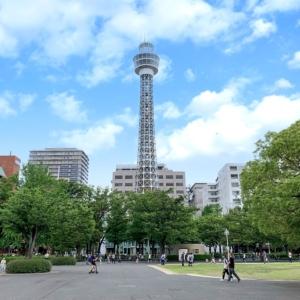 横浜マリンタワー工事中の塔体等を活用したライトアップ、7月7日より実施
