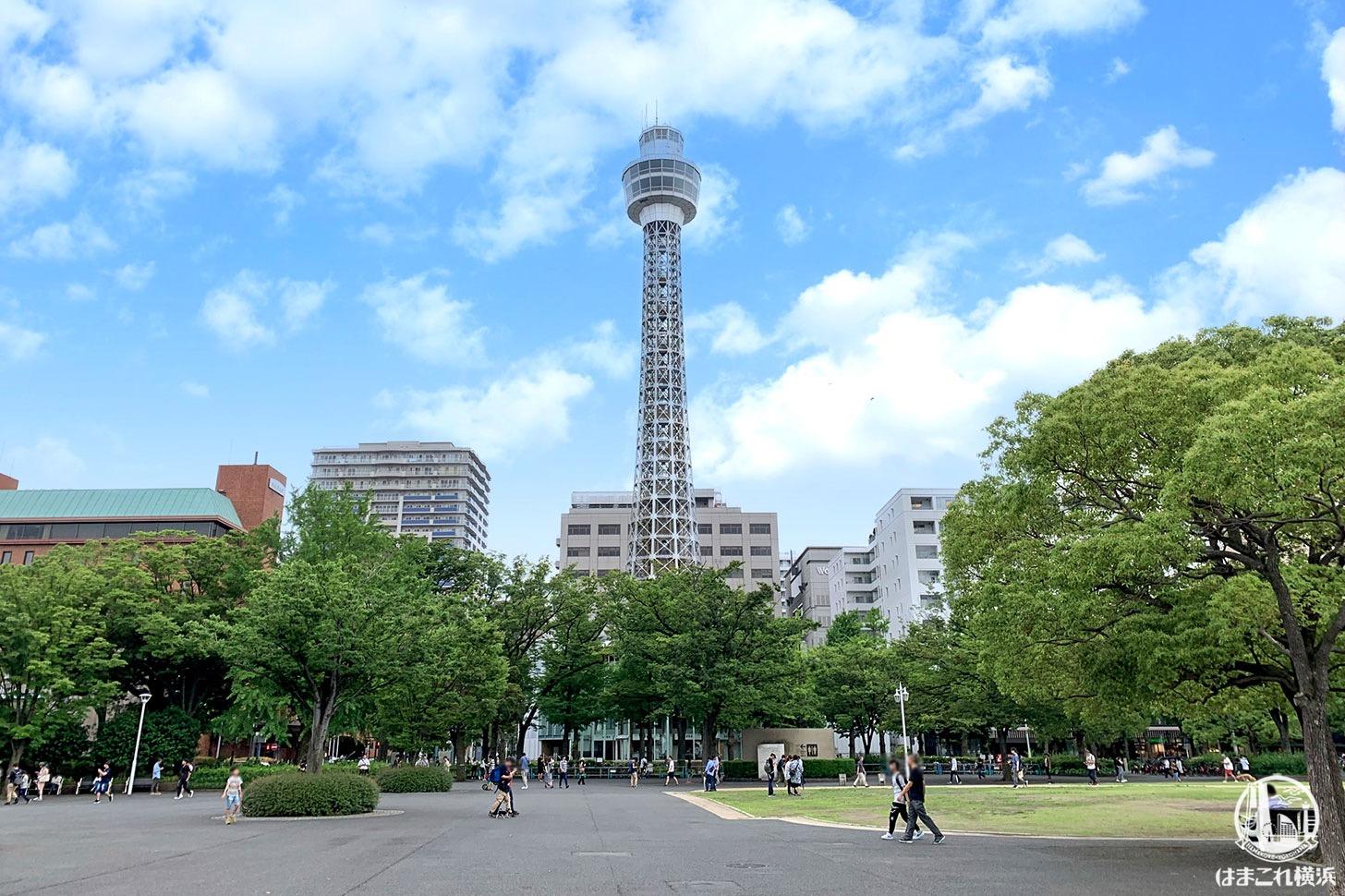 横浜マリンタワー 工事中のの塔体等を活用したライトアップ、7月7日より実施