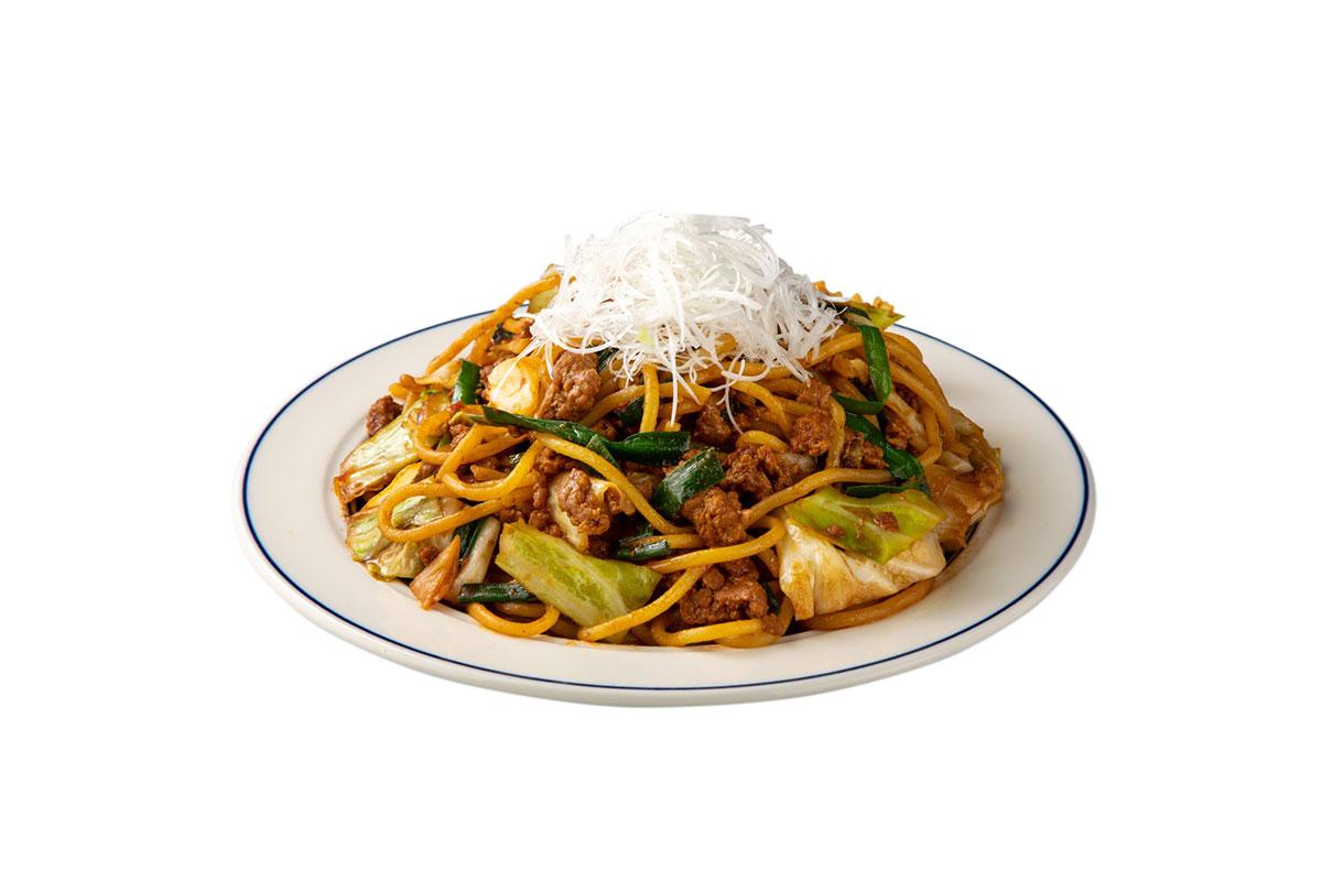 豚そぼろとキャベツの味噌炒めスパゲティ