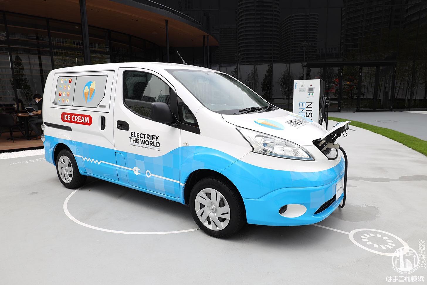 コンセプトカー「e-NV200」アイスクリーム販売