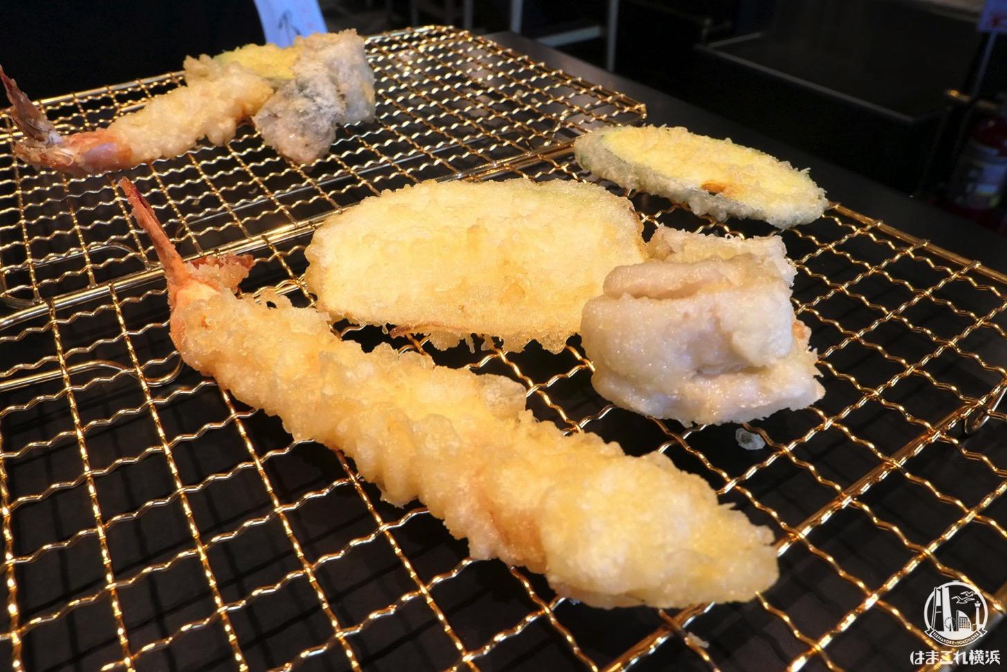 博多天ぷらたかお 横浜馬車道店で店舗限定ランチ!揚げたて数回に分けて提供