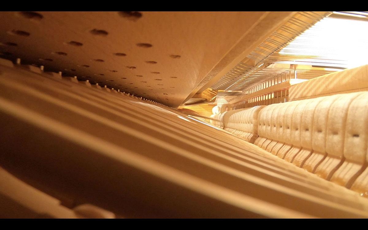グランドピアノの内部
