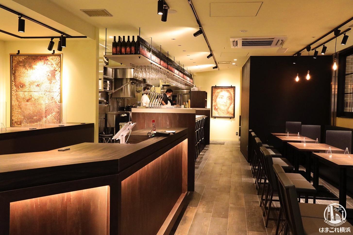 ワインバル「matsu e mon YOKOHAMA」店内