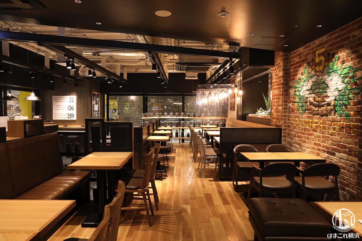 カフェ「5 CROSSTIES COFFEE」店内席