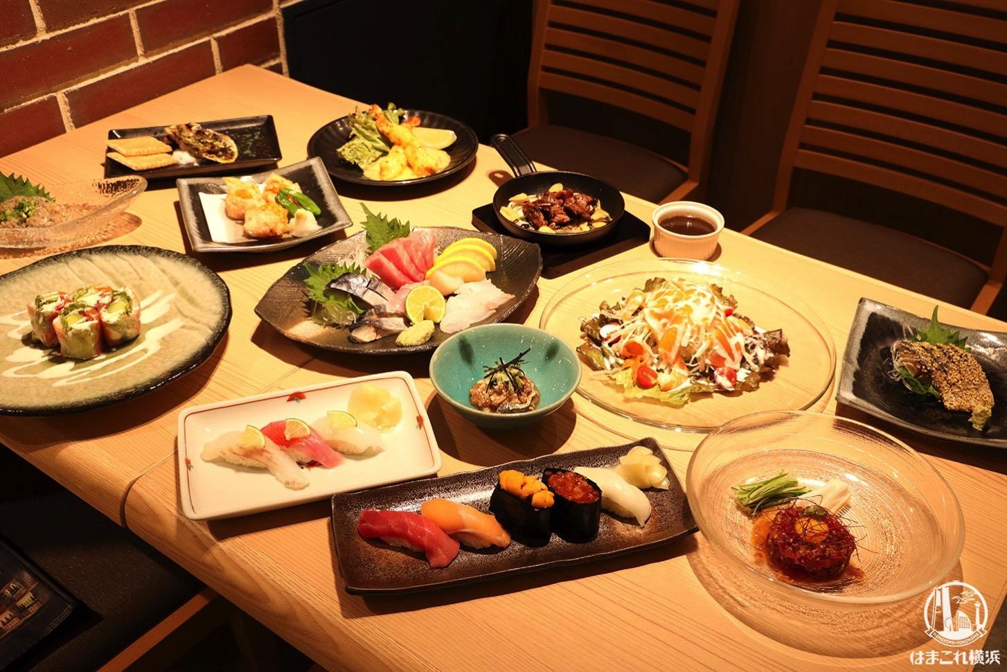 寿司&日本酒バー「横浜すし好」各種料理