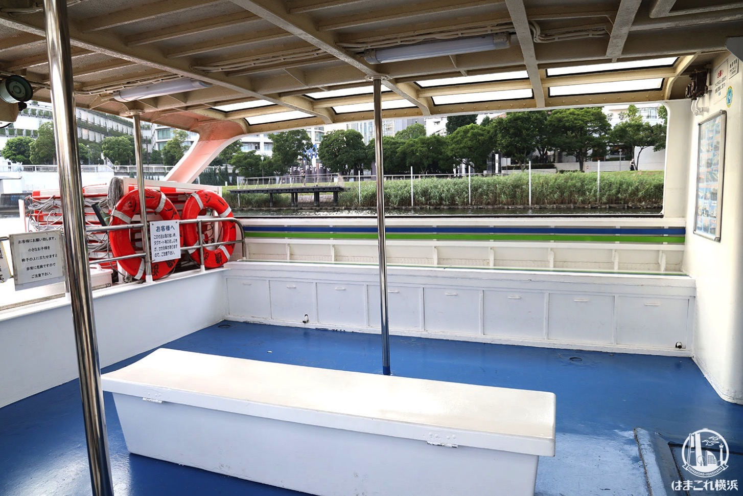 水上バス「シーバス」オープンデッキ