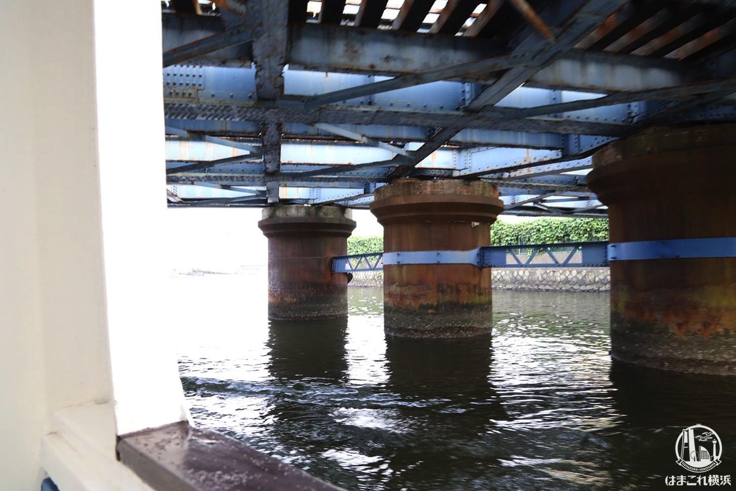 シーバス オープンデッキから見た橋