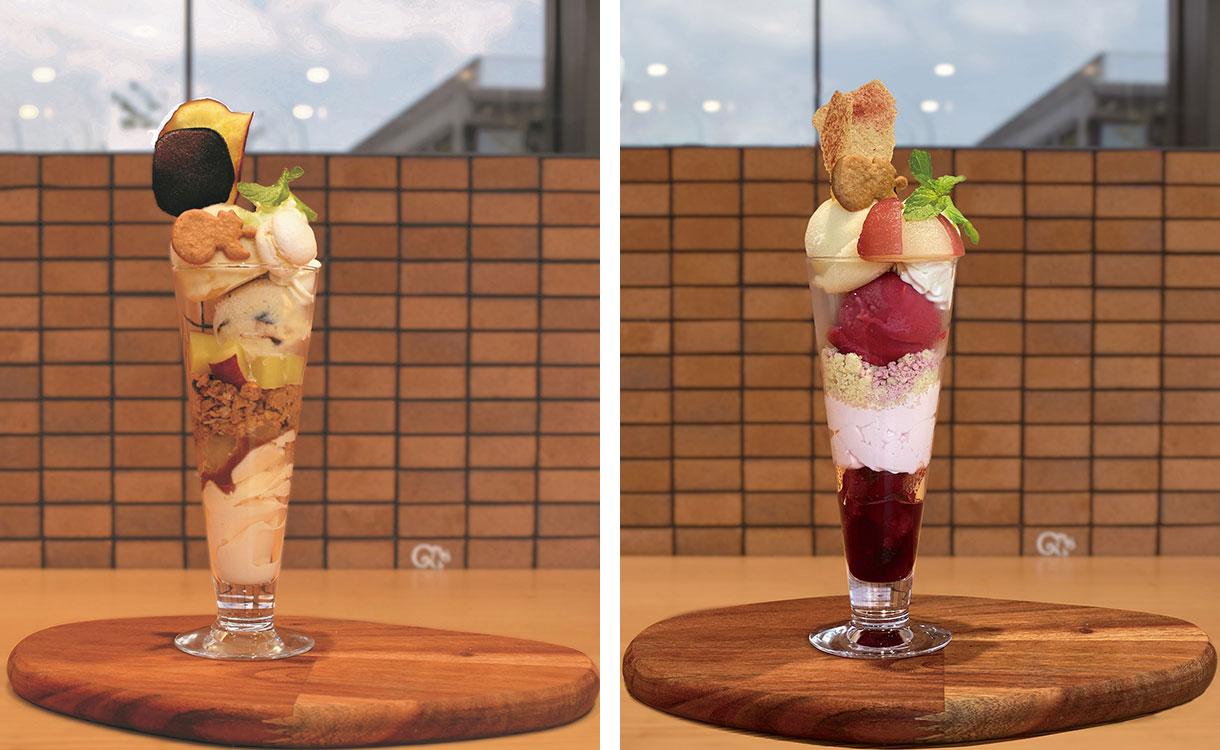 鎌倉紅谷本店のカフェでさつまいもとラムレーズン、洋梨とラズベリーの秋限定パフェ提供開始!