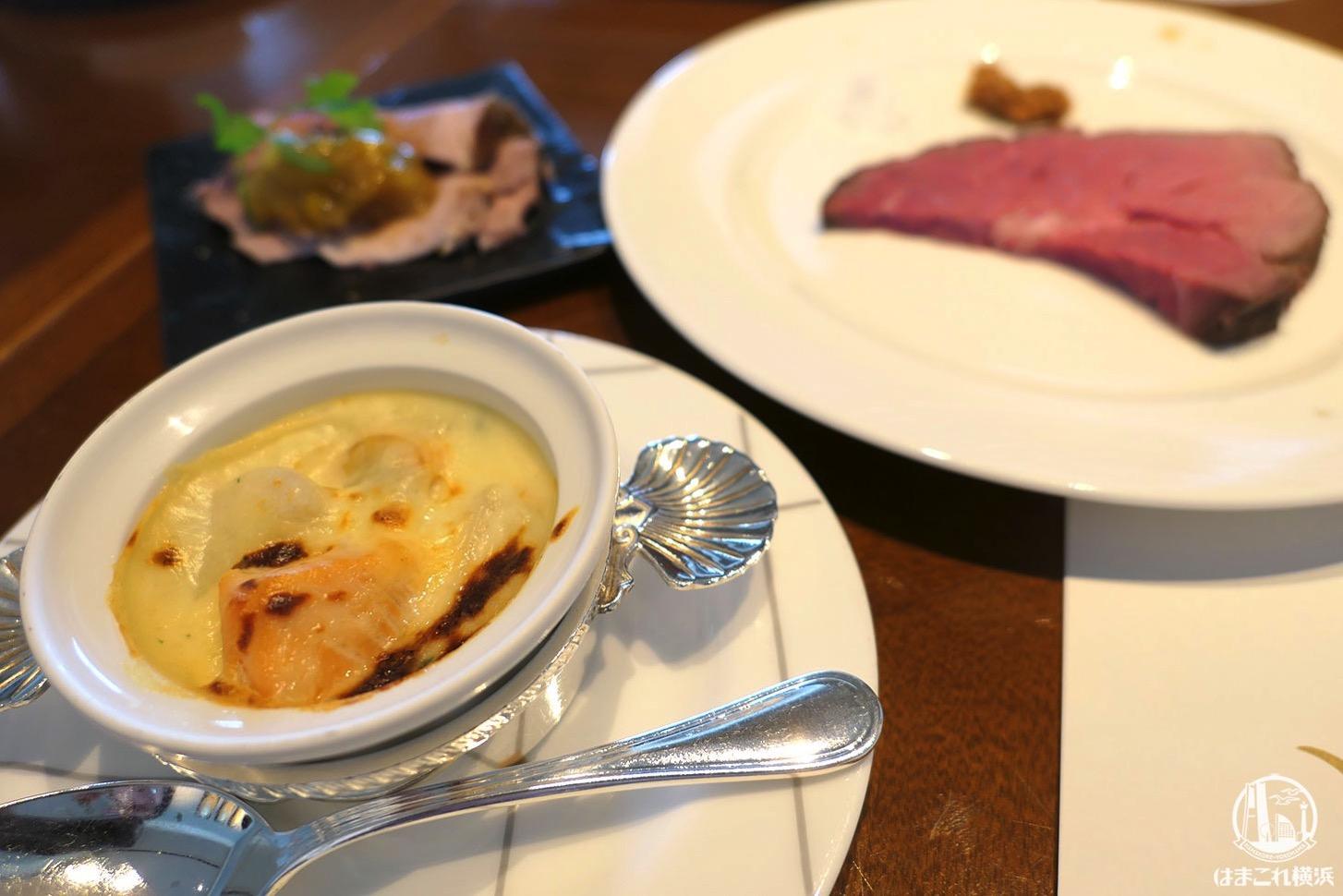 宮崎県産ほうれん草と里芋のシーフードグラタン