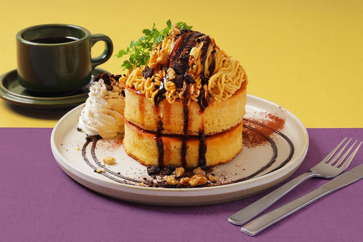 さつまいものモンブランパンケーキ