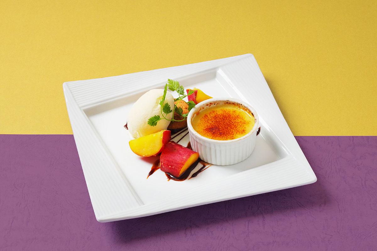 焼き芋ブリュレのデザートプレート