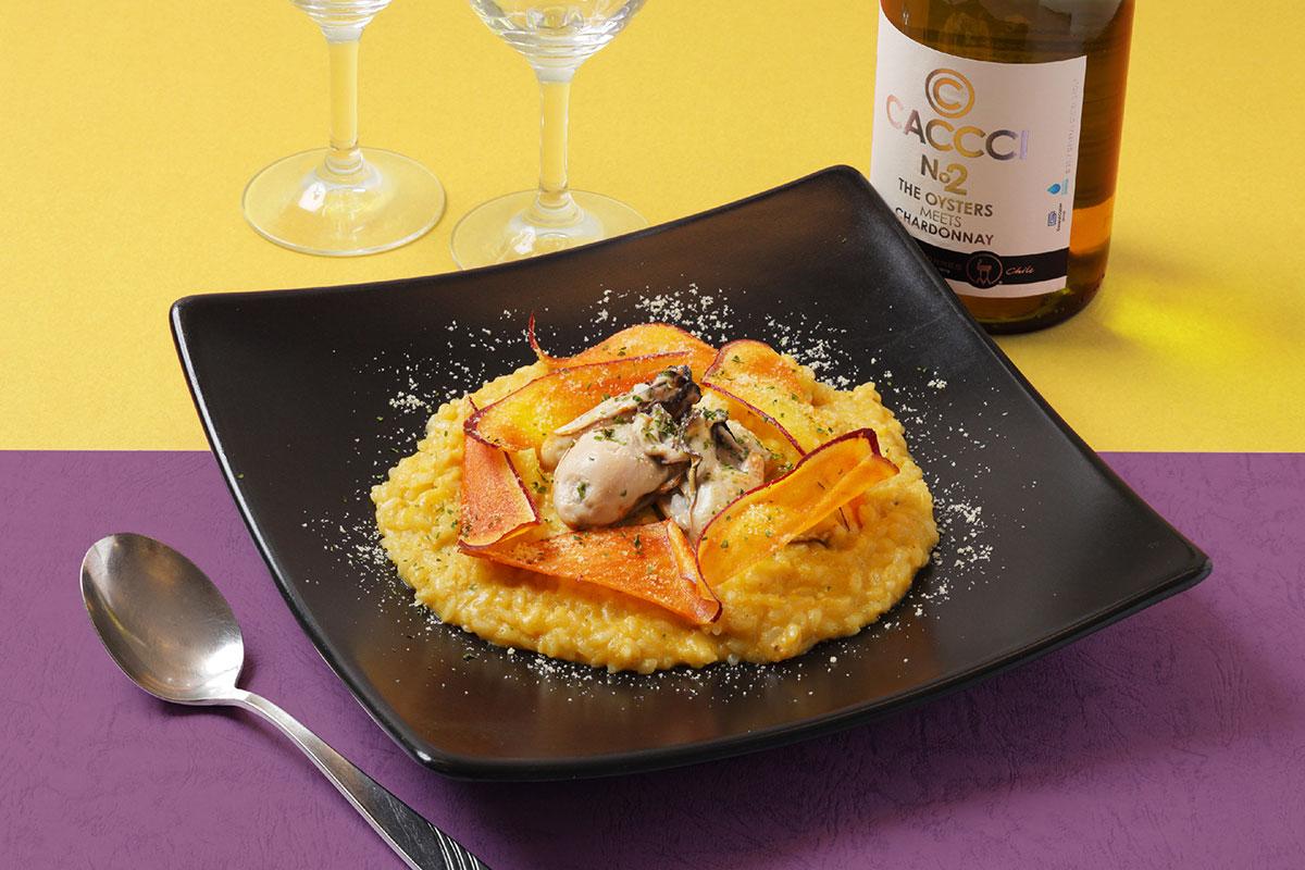 安納芋クリームと牡蠣のリゾット