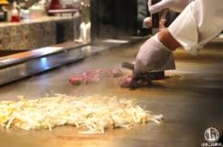 横浜駅ハマチカ「鉄板焼き 寿々の助」のランチが安くて美味しい!目の前で焼くライブ感も魅力