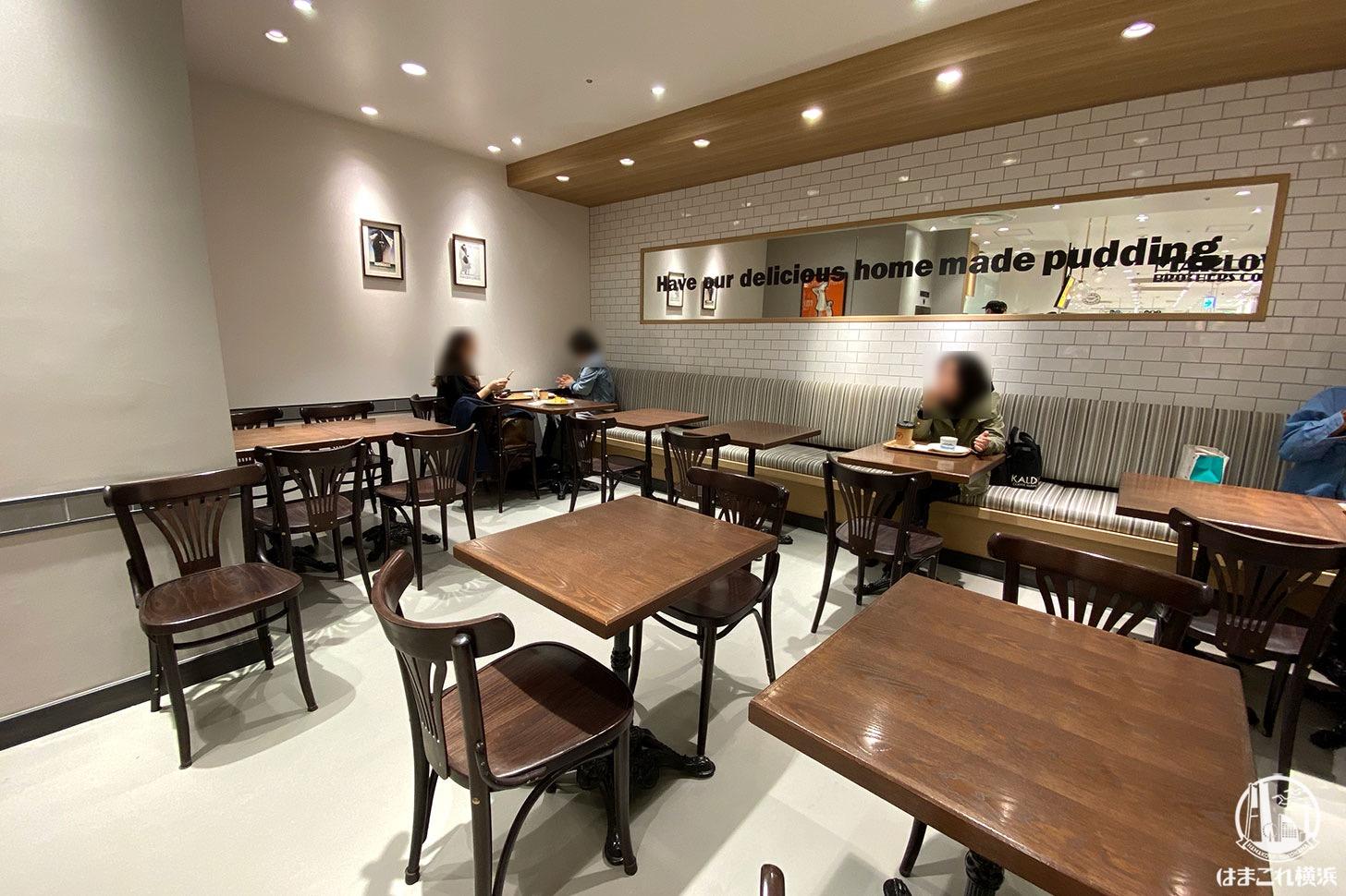 マーロウブラザーズコーヒー 店内のテーブル席