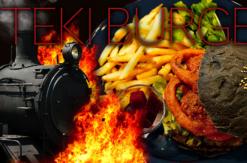 """横浜・桜木町「FOODHALL KITEKI」蒸気機関車イメージした炭を練り込む""""黒いバーガー""""発売!"""