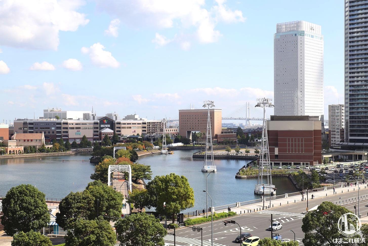 有隣堂ブックカフェ「STORY STORY YOKOHAMA」から見える横浜の景色