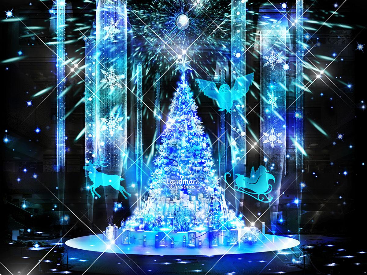 横浜ランドマークプラザにクリスマスツリー登場!2020年はAR降雪イベントも