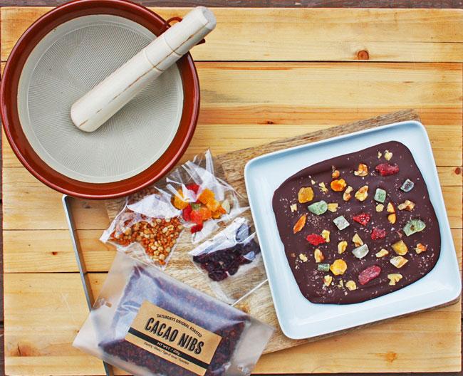 SATURDAYS Chocolate Factory&Café「ビーントゥーバーホームキット(すり鉢付き)」