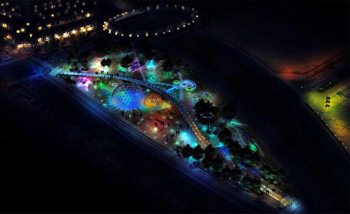 新港中央広場のイルミネーション