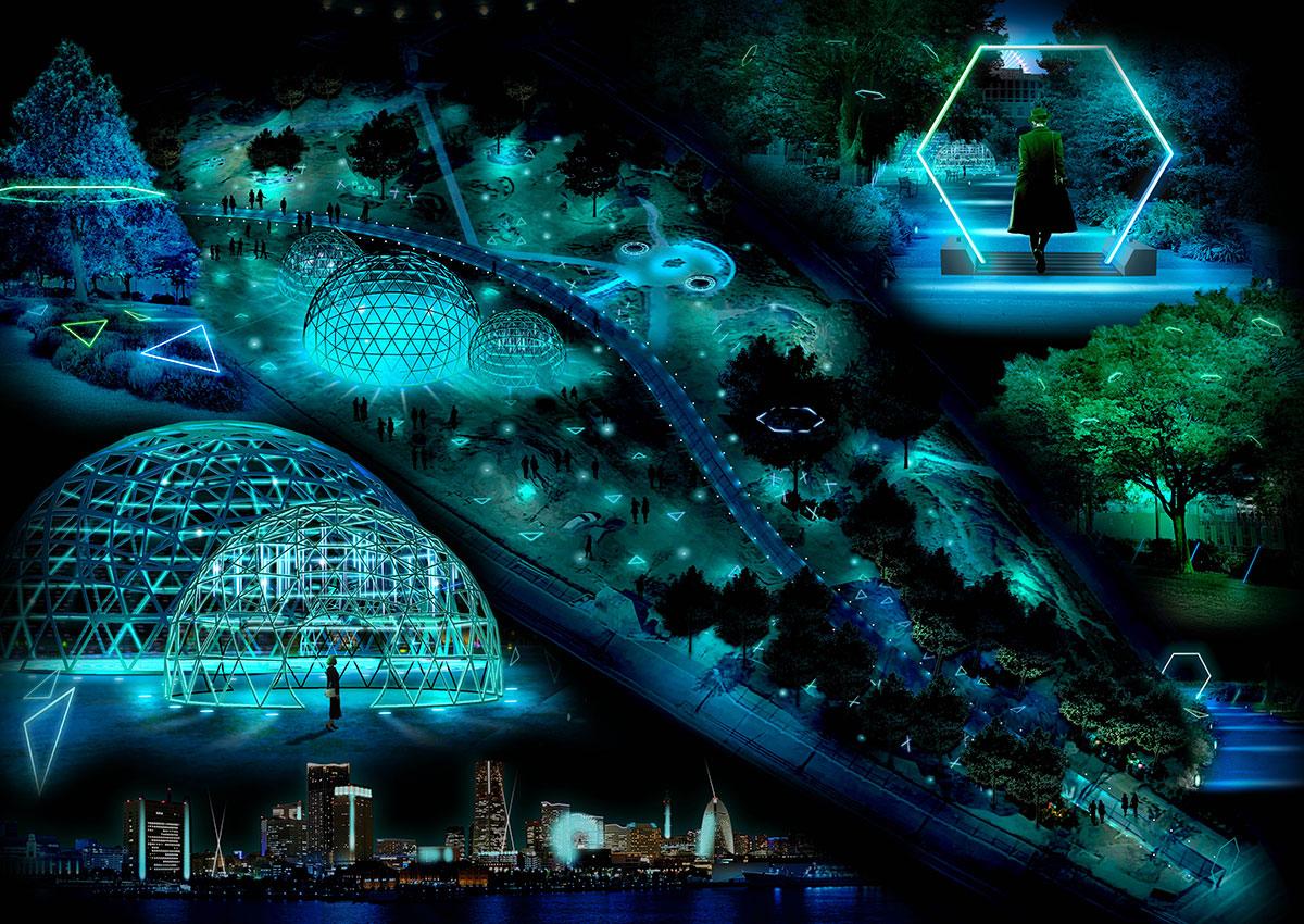 横浜でイルミネーション「ヨルノヨ」開催!街一体で光と音の特別演出も